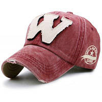 Буква W Украшенные Сделать Старый Бейсбол Шляпы Красное вино