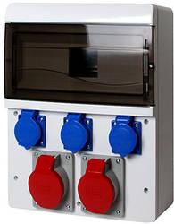Монтажный набор - 2 х32A (230/400V) 4 кв.мм, 3х16 230V 1,5 кв.мм, 13 мод.
