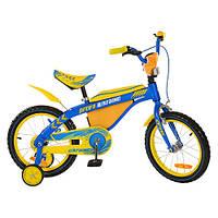 Велосипед PROFI UKRAINE детский 16д.16BX405UK (1шт) гол-жел,карет-амер,зв,пр кол,в кор-ке,71-17-42см