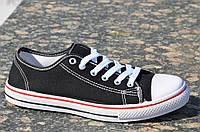 Кеды мужские цвет черный популярные, стильные текстиль (Код: Б824а)