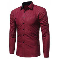 Мужская Рубашка С Длинным Рукавом В Полоску