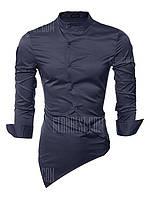 Мода Классическая Рубашка С Длинным Рукавом Мужской M