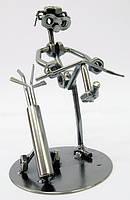 """Техно-арт статуэтка из металла """"Игрок в гольф"""""""
