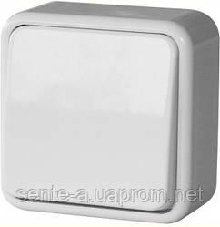 Выключатель одноклавишный e.touch.1111.w  для внешнего монтажа, белый