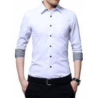 Базовая Деловая Рубашка С Длинными Рукавами И Нагрудным Карманом 5XL