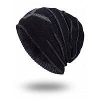 Мужская Тёплая Вязаная Шляпа Чёрный