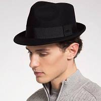 Мужская Полушерстяная Плоская Шляпа Чёрный