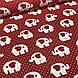 Хлопковая ткань польская белые слоники и красные сердца на красном №130, фото 2
