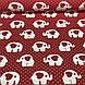 Хлопковая ткань польская белые слоники и красные сердца на красном №130, фото 3