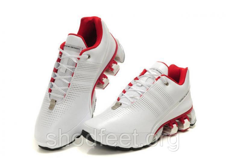 Мужские кроссовки Adidas Porshe Disign P5000 White Red