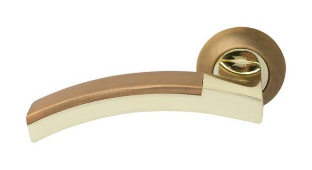 Ручка дверная RDA Largio полированная латунь/матовая кофе
