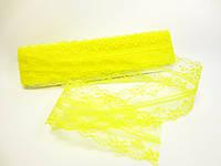 """Кружево """"Цветочное плетение"""", 4 см, цвет желтый"""