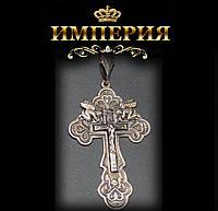 Крест православный серебряный с Ангелами 9 г