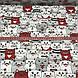 Хлопковая ткань польская коты белые, серые, красные №127, фото 4