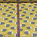 Хлопковая ткань польская пчелки черно-белые на желтом №126, фото 6