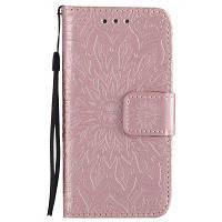 Yanxn солнце цветок печати дизайн Искусственная кожа флип бумажник ремешок защитный чехол для iPhone ЮВ / 5С / 5