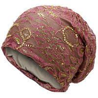 Женская Шляпа С Цветочной Вышивкой Светло-фиолетовый