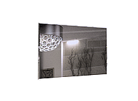 Дзеркало на стіну з ДСП/МДФ у вітальню спальню чорний Белла Миро-Марк