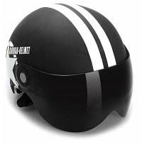 Мотоциклетный шлем с открытым лицом половина шлем регулируемого размера унисекс защитные шлемы с пятиконечной звездой черный новейший шлем для