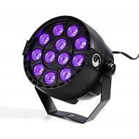 U`King 12LEDS фиолетовый цвет Dmx звуковой активированный свет сценическое освещение для дискотеки клуба Ktv свадьбы Конвертер путешествий ЕС