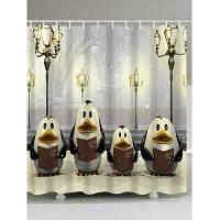 Рождество Уличный Фонарь Пингвин Водонепроницаемый Ванна Занавес W71 дюймов *L71 дюймов