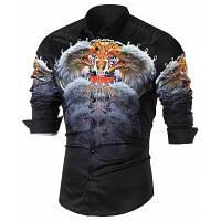 Повседневная Рубашка С Длинным Рукавом И 3Д Принтом Орел L