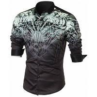Повседневная Рубашка С Длинным Рукавом И Животным L