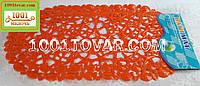 """Антискользящий коврик в ванную на присосках """"Морские звезды"""", оранжевый"""