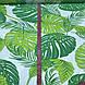 Хлопковая ткань польская листья папоротника зеленые на белом №120, фото 3