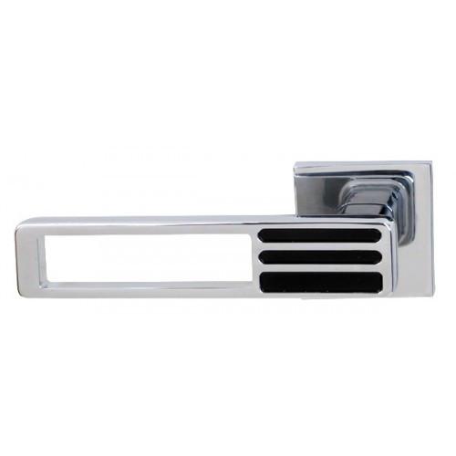 Ручка дверная на розетке RDА Bridge хром/черный