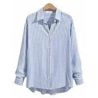 Случайные Полосатый Рубашку С Длинными Рукавами XL