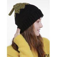 Женская Вязаная Шляпа Рождества С Хвостом Чёрный