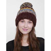 Женская Зимняя Вязаная Шляпа С Цветом Блока Кофейный