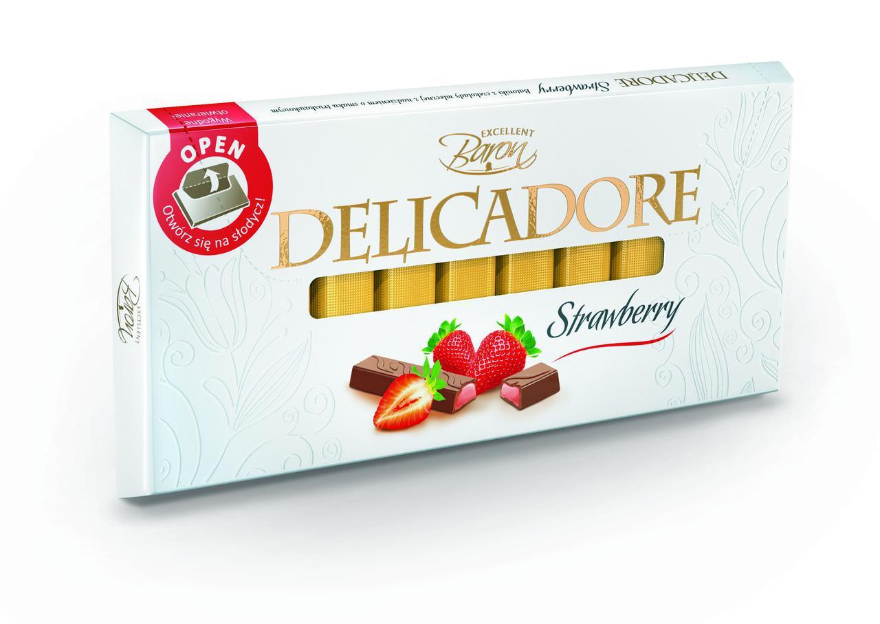 Шоколад DELIKADOR Strawberry ( с клубникой) Baron Польша 200г