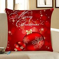 Рождественские шары Печатные дома Декоративные Подушка Подушка ширина 12 дюймов * длина 20 дюйма