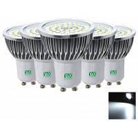 5шт YWXLight GU10 2835SMD 7Вт светодиодная лампа точечного освещения AC 85-265V Холодный белый свет