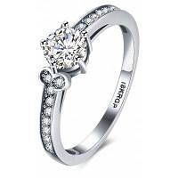 Элегантное платиновое медное кольцо с горным хрусталем