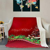 Рождественская Звезда Дерево Pattern Мягкого Флиса Теплое Одеяло W 39.4 дюймов* L 59.1 дюймов