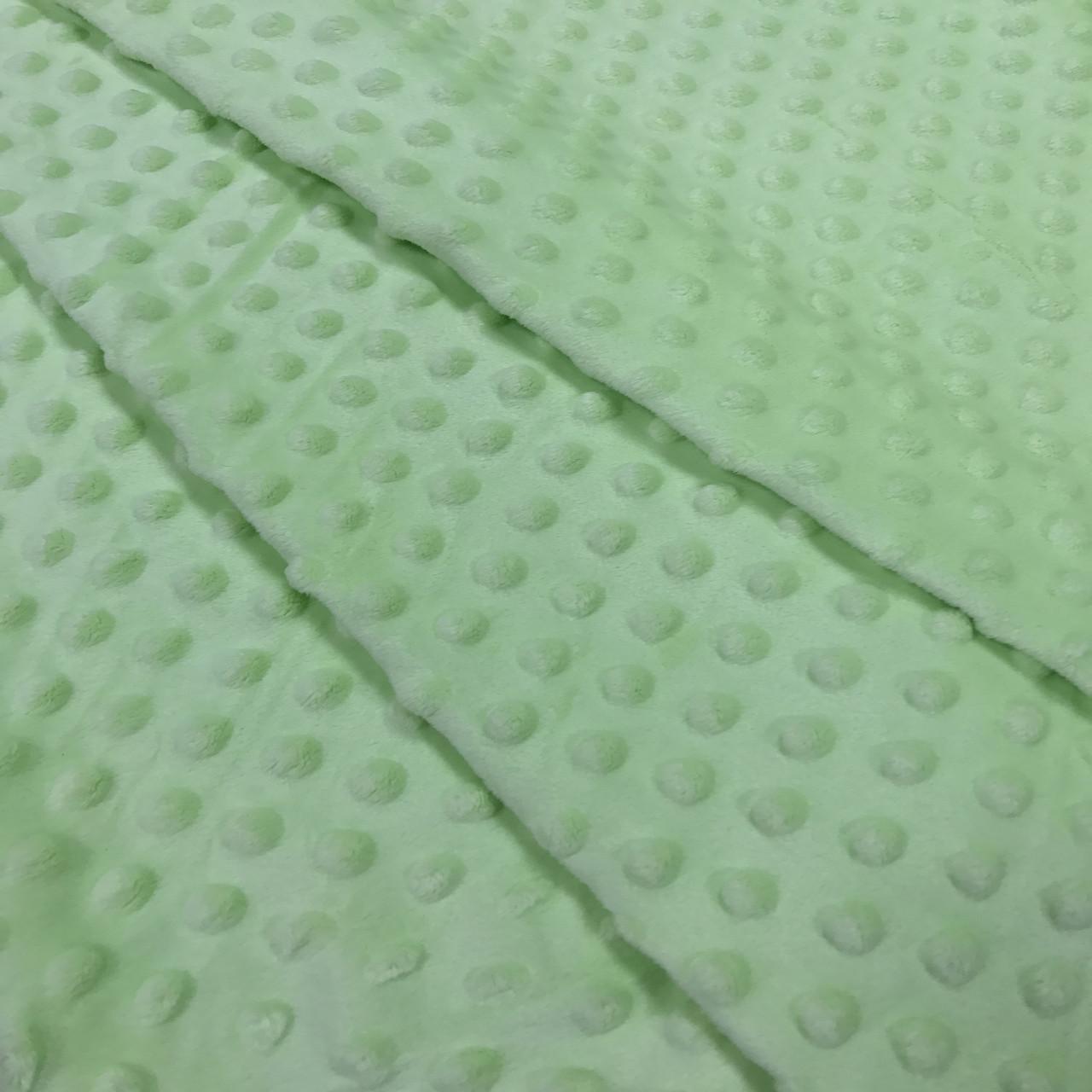 Плюшевая ткань Minky светло-салатовый (плот. 350 г/м.кв)