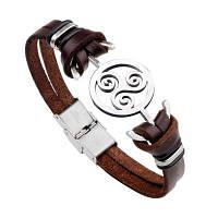 Личный кожаный мужской браслет