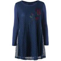 Женская Блуза Большого Размера С Узором Розы XL