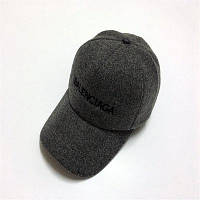 Любители Открытый теплая осень и зима сплошной Цвет Бейсбол Hat шерсть Смесовой крутить его уродливую шляпу мужчины и женщины шляпа Серовато-белый