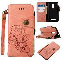 Ретро розовый PU кожаный магнитный замок бумажник флип защитный чехол с ремешок для xiaomi Редми примечании 3 Розовый