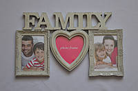 Рамка коллаж 3302 Family 3 фото фисташковая