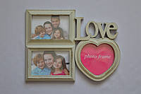 Рамка коллаж 3303 Love 3 фото фисташковая