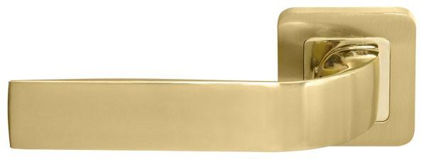 Ручка дверная на розетке RDА Sens полированная латунь/матовая латунь