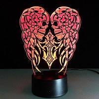 3D Demon Skull Светодиодный эффект Light 7 цветов Micro USB Настольная лампа 21 x 15 x 6CM