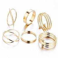 6 шт. Женское кольцо с комплектом ретро-стильной вышивки из изысканного аксессуара 6 шт.