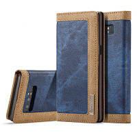 CaseMe Magnetic Closure Mixed Stitching Cowboy Jeans Кожаный футляр для переноски для Samsung Galaxy Note 8