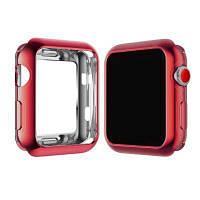 JENYOJIA Платиновый мягкий тонкий чехол из TPU защитная гибкая крышка с защитой от царапин для Apple Watch Nike серии 3/2/1 38 мм Красный